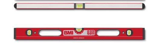 BMI 698100D Wasserwaage Robust, Länge 100 cm, 2 Durchgriffe, pulverbeschichtet
