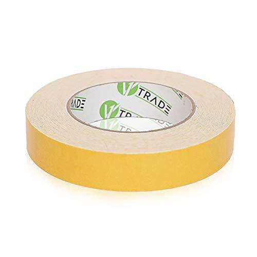 V1 Trade - Doppelseitiges Klebeband, Extra Stark Double Sided Tape Universal Doppelklebeband für alle Zwecke (25 mm x 5 m)
