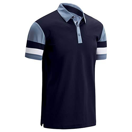 Callaway Golf Herren Pique Colourblock Stretch Golf - Peacoat - XL
