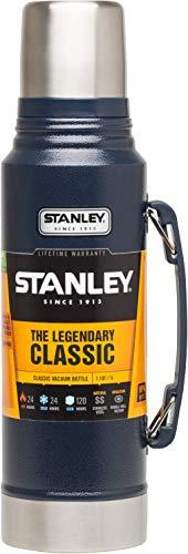 Stanley Legendary Classic Vakuum-Thermoskanne, 1 Liter, 18/8 Stainless Edelstahl, Integrierter Thermobecher, Doppelwandige Isolierung Isolierflasche