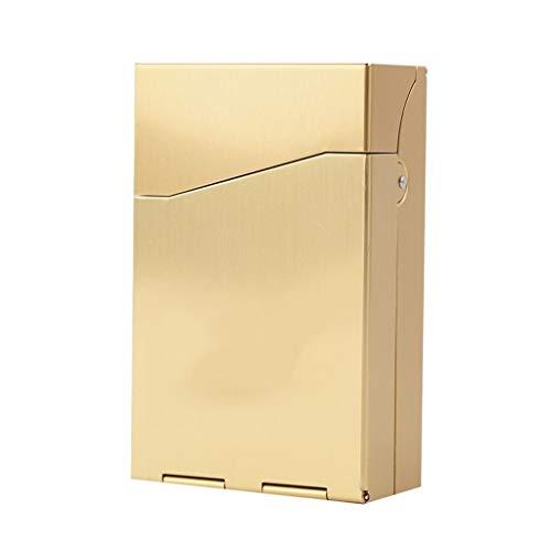 ZYING Estuche portátil de 4 Colores para Cigarrillos Estuche de Metal de Aluminio 20 Piezas Estuche de Almacenamiento para Cigarrillos de cigarros Estuche de Bolsillo (Color : D)