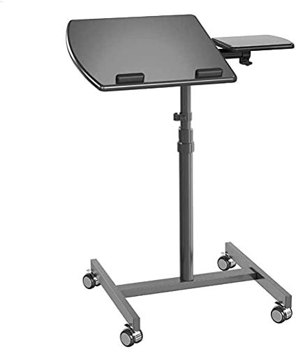 WECDS Tabla Plegable del Ordenador Portátil del Diseño Moderno, Escritorio Plegable De La Bandeja Ajustable del Ordenador Portátil De La Altura Giratoria