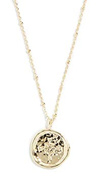 gorjana Women s Compass Coin Necklace Yellow Gold One Size