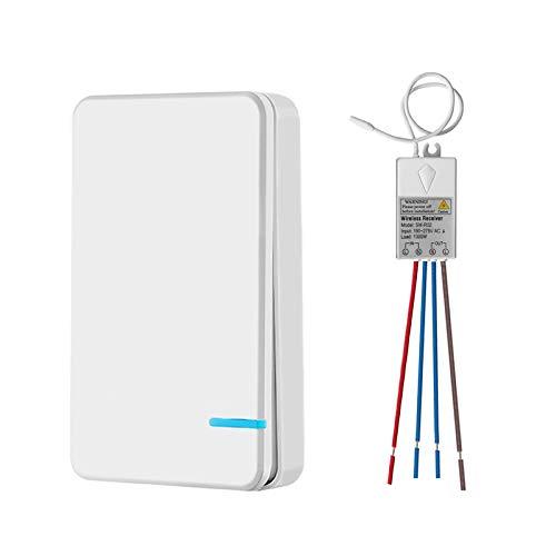 Town sister Mini Wireless lichtschakelaar met mini ontvanger radio schakelaar kit buiten 400m binnen 40m afstandsbediening RF 433Mhz plafondlamp LED-lampen IP54 dampproof
