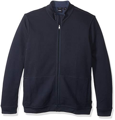 BOSS HUGO BOSS Men's Scavo Reversible Full Zip Sweater, Dark Blue, Large