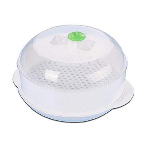 Zonfer Microondas Vapor Vapor Plástico Redondo De Una Sola Capa Microondas Utensilios De Cocina Tazón Vapor Horno Microondas Vapor De Cocción Rápida Saludable Rápido