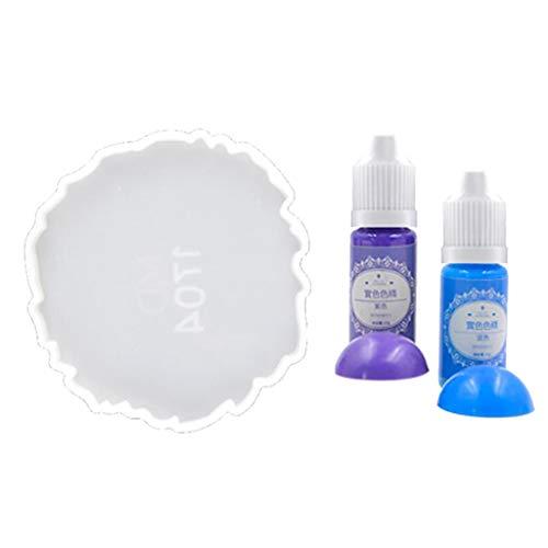 kowaku Pigmento de resina líquida DIY epoxi UV resina tinte Coaster artesanía moldes de silicona DIY collar pulsera pendiente joyería fabricación de moldes para manualidades y fundición - Azul Púrpura