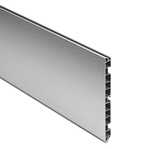 Generico Zoccolo per Cucina e Mobili in Alluminio Varie Altezze e Lunghezze - Dimensione Disponibile: H 15 x 200 cm