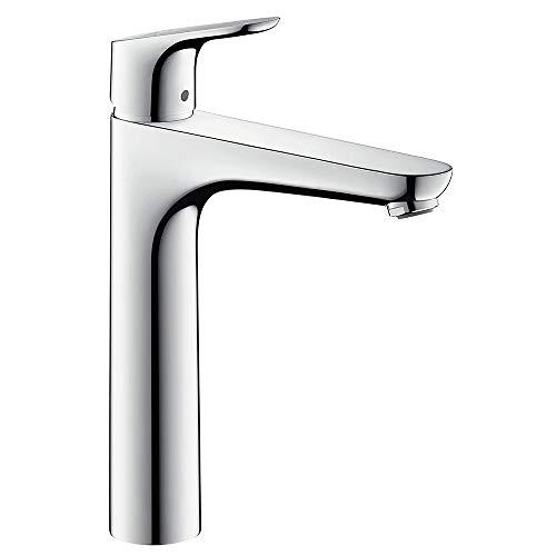 Hansgrohe - Waschbeckenarmatur, mit Ablaufgarnitur, QuickClean, EcoSmart, Chrom, Serie Focus 190