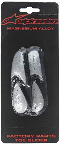 Alpinestars Ersatz-Schleifer Magnesium Toe Slider Silber