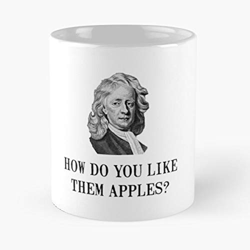 Sir Isaac Newton Ap-ple Classic Mug - Ceramic Coffee White (11 Ounce) Tea Cup Nursing Appreciation Gifts For Nurse Practitioner-hinpeste