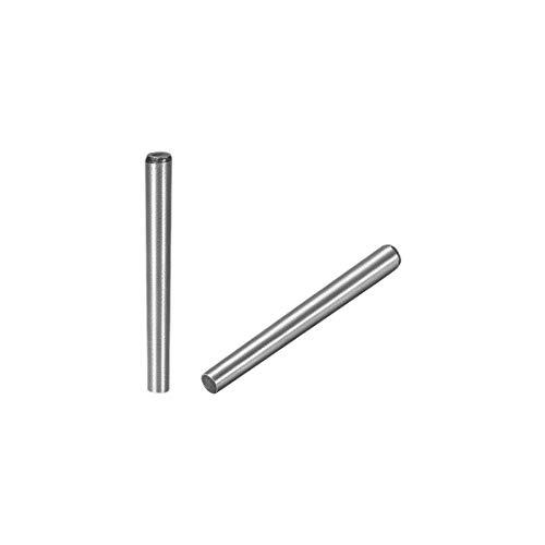 sourcing map 5 Stück Kegelstift 1:50 GB117 45mm Länge 4mm x 4.9mm kleiner Enddurchm. Kohlenstoffstahl