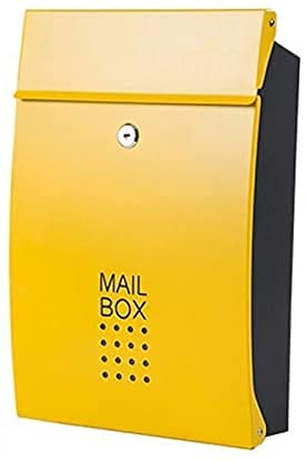 FANNISS /Buzones,Buzones con Sistema de Seguridad,Buzón de Correo con Bloqueo Vertical Buzón de Correo montado en la Pared Porche de Entrada residencial al Aire Libre para Servicio Postal Buzón de