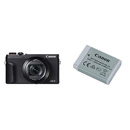 Canon PowerShot G5 X Mark II Fotocamera digitale compatta & NB 13L Batteria Ricaricabile, Grigio