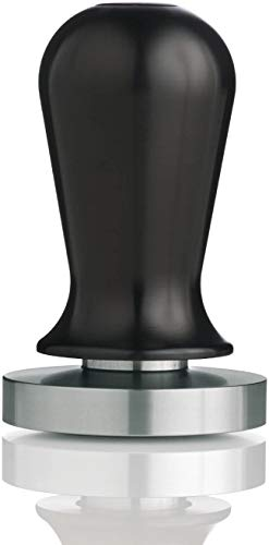 51mm Calibrated Espresso Tamper, Calibrated Coffee Tamper with Spring Loaded Anodized Aluminum Handle Stainless Steel Flat Base
