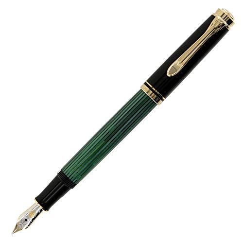 Pelikan Premium Füllfederhalter Souverain, M300feine Spitze schwarz/grün