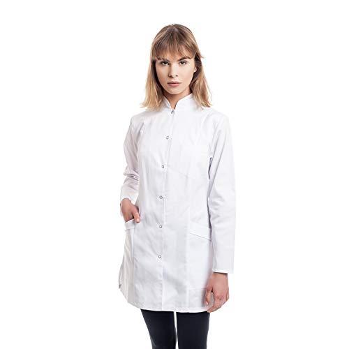Arztkittel Weiß Damen -7 Weisser Laborkittel Größe (XS -3XL) - Labormantel Perfekt Als Chemie, Kosmetik, Labor, Berufsbekleidung Kittel - Am Besten Für Ärzte, Krankenschwester, Arzthelferin.