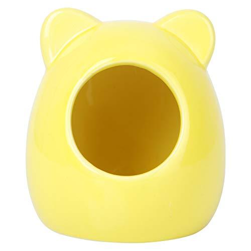 Balacoo Small Animal House, Ceramic Hamster Bedding Hideout Nest, Critter Bath for Chinchilla Hamster Rat Gerbils (Random Color)