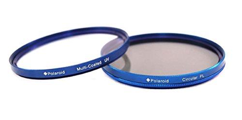 Polaroid Optics 72mm Mehrfachbeschichtetes Dualfilter Set blau (MCUV, CPL)