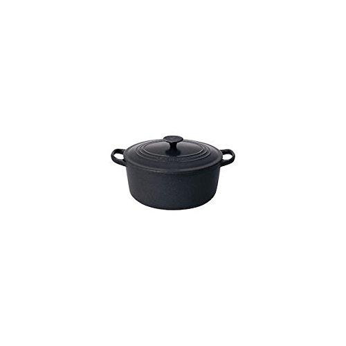 ル・クルーゼ(Le Creuset) 鋳物 ホーロー 鍋ココット・ロンド 16 cmマットブラック 【日本正規販売品】