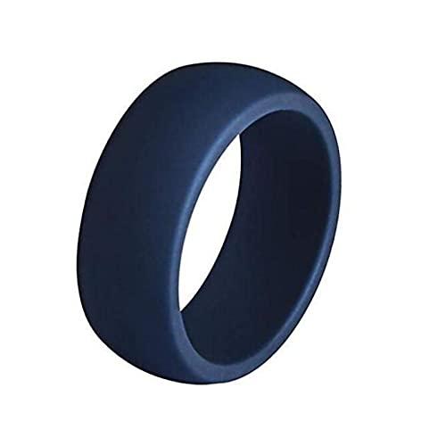 XDY 8.7mm Anillo de Silicona Curvado para Hombre Anillo DE Silicona DE Silicona Aire Libre DE SILICONOS Anillos Unisex Accesorios Azul Azul,Dark Blue,9#18.9mm