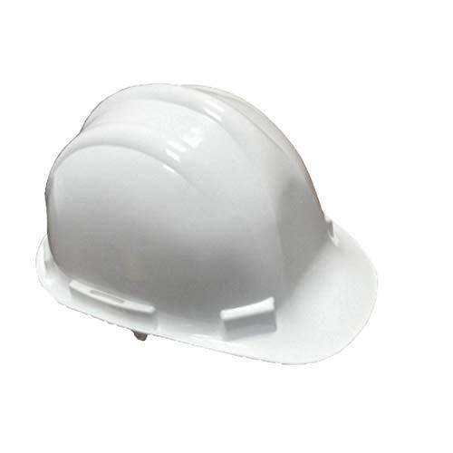 Bauarbeiterhelm hochwertiger ABS Schale in weiß| Schutzhelm mit Schweißband| Industrie Arbeitsschutzhelm| Forstschutzhelm| Universalgröße| Vierpunkt Nylon Innenleben| EN397