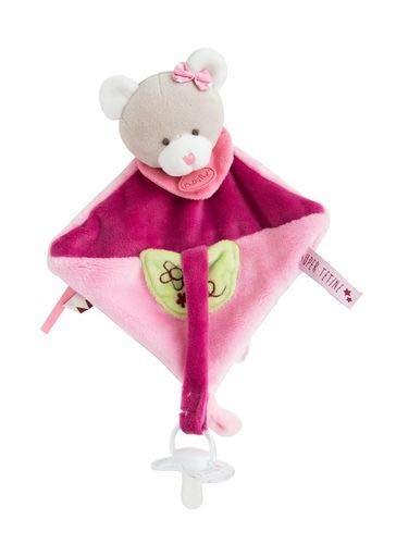 Babynat Baby'Nat Les Supper Doudous Attache Tetine Ours Rose BN0288