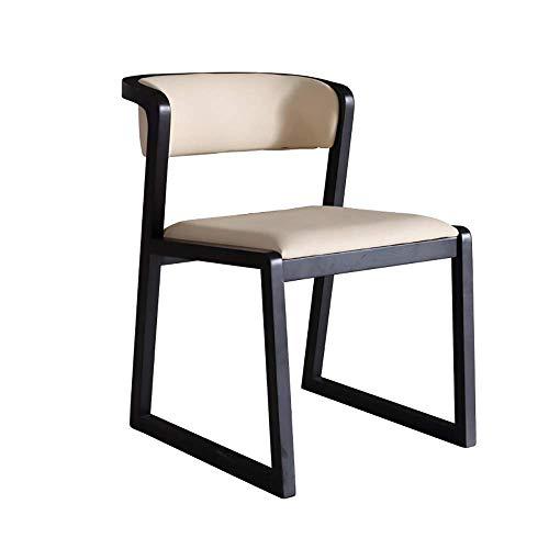 WGFGXQ Sillas de Comedor de Cocina 2 sillas Sillón de Madera Maciza para el hogar Silla nórdica Moderna de Madera de Fresno Silla de Madera Maciza Estudio Silla de Oficina Diseño Muebles con respal
