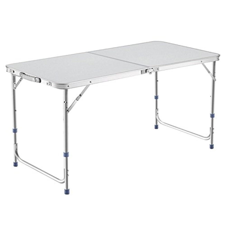 同一のやる修復DesertFox アウトドア 折りたたみ テーブル 120×60×(55-62-70)cm 3WAY 自由に高さ調整可能 ピクニック レジャー キャンプ 用