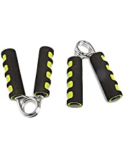 Hirmoz Hand Grip Strengthener By Iron Master, Finger Gripper, Hand Grippers - Soft Foam Hand Exerciser for Quickly Increasing Wrist Forearm and Finger Strength - 2 Pieces, Black, IR97003