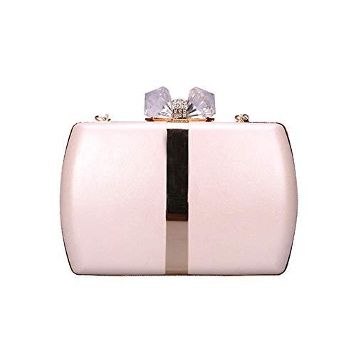 Clutch Bags For Women Women'S Clutch Bag Leather Handbag Black White Evening Bag Wedding Purse For Bridal Lock Shoulder Bag Pink