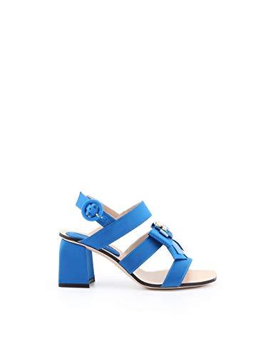 Stuart Weitzman dames Donnalightblue lichtblauwe lederen sandalen