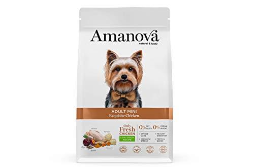 Amanova Cibo Secco Super Premium per Cani Adulti di Taglia Piccola o Mini Gusto Pollo - 100% Naturale,...