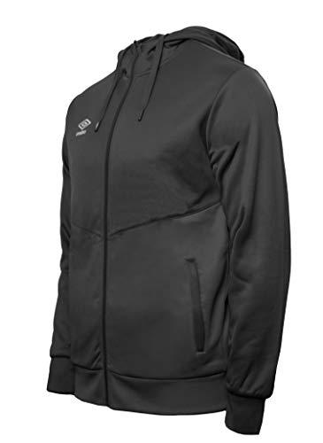 64827I-001.XL UMBRO Core Training Hooded FZ Jacket Chaqueta con Capucha, Hombre, Negro, XL