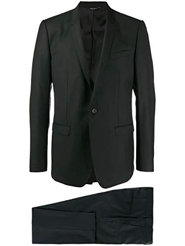 DOLCE E GABBANA Luxury Fashion Herren GK0QMTFU2NFN0000 Schwarz Wolle Anzuge   Jahreszeit Permanent