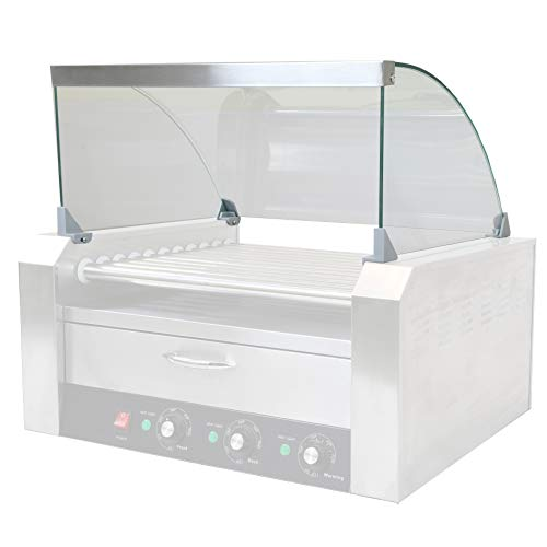 PartyHut Hot Dog Roller Sneeze Guard for 11 Roller Commercial Machine Sanitary Clear Cover (Hot Dog Roller Not Included)