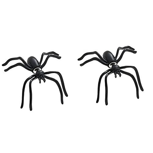 Naisde Spider Stud Pendiente Horrory Pendiente Decoración de Halloween para niña/niño 1 par para niña/Chico 1 par araña Spider Spider E