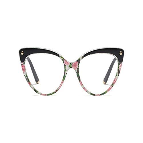 XCYQ Brillengestell Brillenfassungen Frauen Klassische Brillen Optische Mode Computergläser, C.