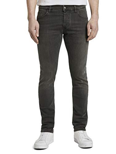 TOM TAILOR Herren Jeanshosen Troy Slim Jeans clean Dark Stone Grey Denim,33/32