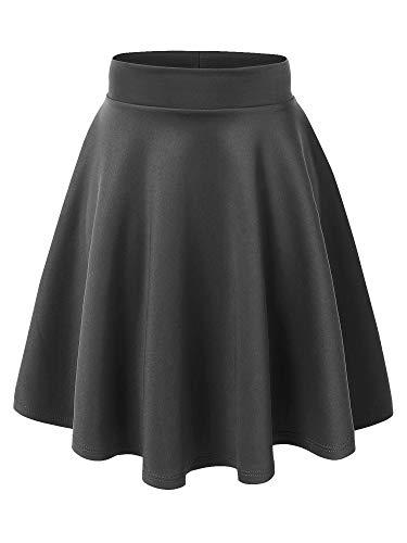 MBJ WB829 Womens Flirty Flare Skirt S Charcoal