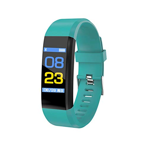 YDL ConnectFIT 115 Plus Bluetooth Smart Watch Monitor De Ritmo Cardíaco Reloj De Pulsera Fitness Tracker Pulsera IP65 Impermeable Smart Muñequera (Color : Green)