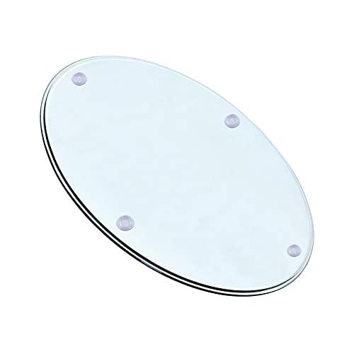 WXZX Cristal Redondo Tablero De Mesa Templado Transparente 55cm, 50cm, 60cm, Mesitas De Salón para El Café, Grosor 8 Mm, Resistente A Altas Temperaturas hasta 300 Grados (Size : 38 cm (15 Inches))