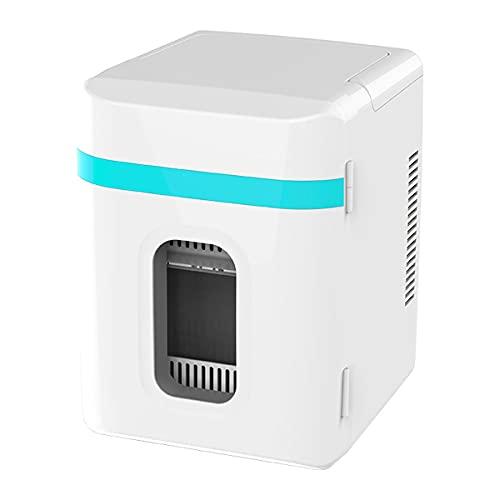 LDOR 10L Home Car Refrigerador de Coche de Doble propósito Mini refrigerador pequeño Dormitorio Mini Nevera Caja AC/DC Medicina Cosméticos Refrigerador