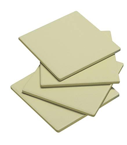 Enders® PIZZASTEINE 8811 4er-Set, 19 cm x 19 cm, rechteckig, Grill-Zubehör, Gasgrill BBQ, beige