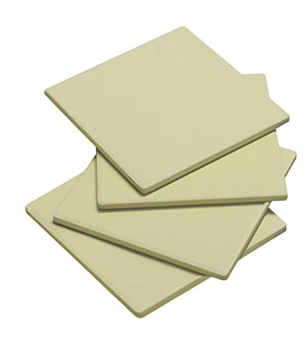 Enders PIZZASTEINE 4er-Set, 19 cm x 19 cm, rechteckig, Grill-Zubehör, Gasgrill BBQ, beige
