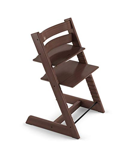Tripp Trapp by Stokke Adjustable Wooden Walnut Brown Baby High Chair (Chair Only)