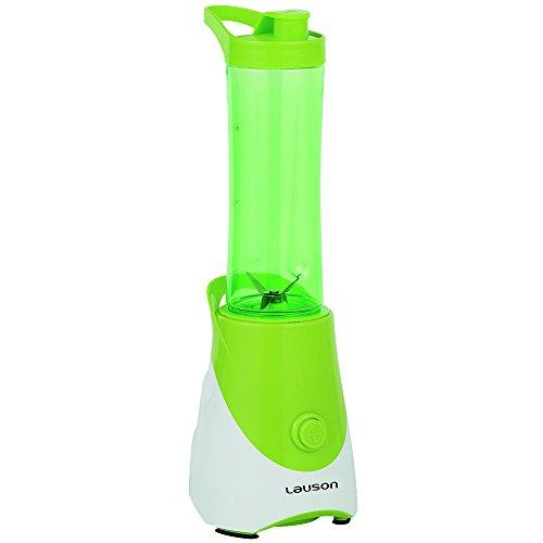 Lauson Batidora Portátil de Vaso extraíble, Mini Mixer para Smoothies, Licuadora de 600ml, 300W, Color Verde
