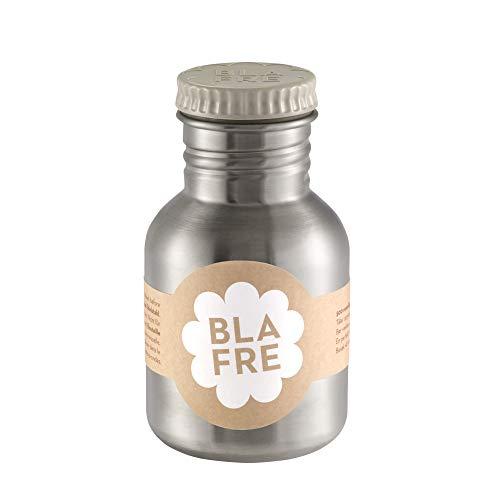 Blafre Edelstahl Trinkflasche Deckel hellgrau 300 ml