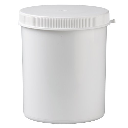 Packland Gmbh 10x Kunststoffdose 1250ml mit Press-on Verschluss aus weissem PP