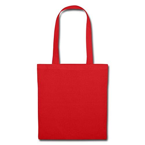 Spreadshirt Optische Täuschung Unmögliche Figur Stoffbeutel, Rot